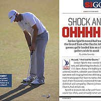 Dustin Johnson missed a comeback putt for birdie to force a playoff at the 2015 US Open at Chambers Bay in University Place, Washington. Jordan Spieth won as a result. Photographed for Sports Illustrated