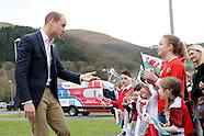 The Duke of Cambridge in Wales 1 Mar 2017
