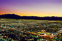 Looking west from the Strip (the Stratosphere), Las Vegas, Nevada USA