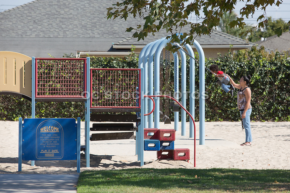 Children's Playground at Freeman Park in Gardena California
