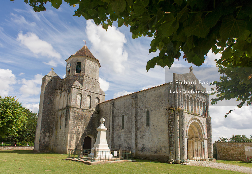 The Romanesque church of St Simon de Pellouille, Charente-Maritime, France.