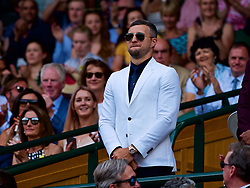 LONDON, ENGLAND - Saturday, July 7, 2018: Boxer Carl Froch in the Royal Box before the Gentlemen's Singles 3rd Round match on day six of the Wimbledon Lawn Tennis Championships at the All England Lawn Tennis and Croquet Club. (Pic by Kirsten Holst/Propaganda)