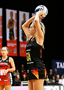 Magic goal attack Monica Falkner shoots during the ANZ Premiership netball match - Magic v Tactix played at Claudelands Arena, Hamilton, New Zealand on 30 July 2018.<br /> <br /> Copyright photo: © Bruce Lim / www.photosport.nz