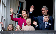 Queen Margrethe, Prince Henrik, Crownprince Frederik, Crownprincess Mary, Prince Christian, Princess