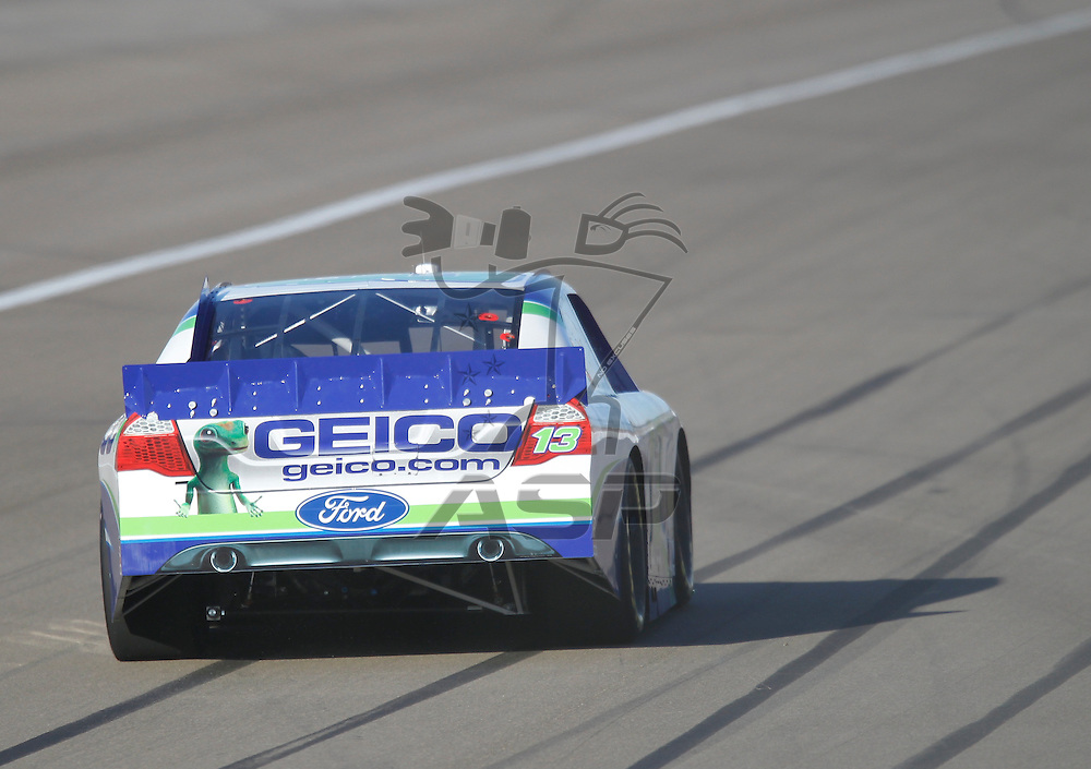 LAS VEGAS, NV - MAR 09, 2012:  Casey Mears (13) qualifies for the Kobalt Tools 400 race at the Las Vegas Motor Speedway in Las Vegas, NV.