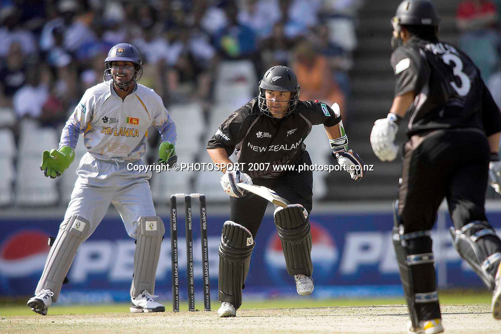Craig McMillan from  run in New Zealand's match against Sri Lanka in the twenty 20 World Cup at Wanderers in Johannesburg, South Africa
