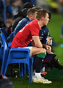 Liam Williams - Lions full back sits on the sidelines after being sin-binned for a dangerous high tackle.<br /> Auckland Blues v British & Irish Lions, Eden Park, Auckland, New Zealand, Wednesday 7th June 2017<br /> Copyright photo: David Gibson / www.photosport.nz