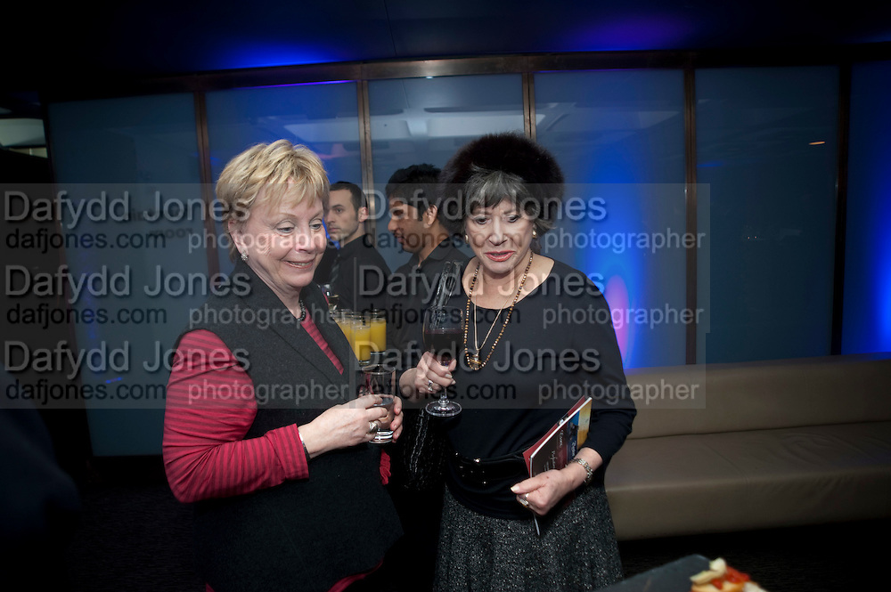 BETSY NEWELL; RUTH ROBINSON; , LA Philharmonic reception, Fountain room, Barbican. 27 January 2011 -DO NOT ARCHIVE-© Copyright Photograph by Dafydd Jones. 248 Clapham Rd. London SW9 0PZ. Tel 0207 820 0771. www.dafjones.com.