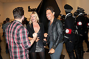 KATE MOSS; JAMIE HINCE, Jake or Dinos Chapman, White Cube, Mason's Yard and afterwards at The Tab Centre, Austin Street, London E2. 14 July 2011. <br /> <br />  , -DO NOT ARCHIVE-© Copyright Photograph by Dafydd Jones. 248 Clapham Rd. London SW9 0PZ. Tel 0207 820 0771. www.dafjones.com.