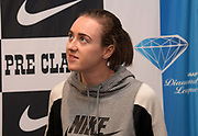 Laura Muir (GBR) during a press conference prior to the 45th Prefontaine Classic, Saturday, June 29, 2019, in San Mateo, Calif.
