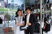 Kazuyo Sejima; Ryue Nishizawa OF SANAA, 2009 Serpentine Gallery Summer party. Sponsored by Canvas TV. Serpentine Gallery Pavilion designed by Kazuyo Sejima and Ryue Nishizawa of SANAA. Kensington Gdns. London. 9 July 2009.