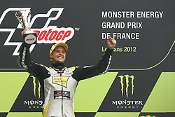 20.05.2012, Bugatti Grand Prix Race Circuit, Le mans, FRA, Moto 2, Monster Energy Grand Prix de France, im BildThomas Luthi - Interwetten team // during Monster Energy Grand Prix de France of FIA Moto2 series at Bugatti Grand Prix Race Circuit, Le mans, France on 2012/05/20. EXPA Pictures © 2012, PhotoCredit: EXPA/ Insidefoto/ Semedia..***** ATTENTION - for AUT, SLO, CRO, SRB, SUI and SWE only *****
