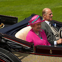 Ascot 19th June 2007 Her Majesty the Queen and other members of the Royal Family arriving at Ascot opening day