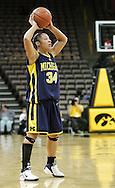 08 February 2007: Michigan guard Jessica Minnfield (34) in Iowa's 66-49 win over Michigan at Carver-Hawkeye Arena in Iowa City, Iowa on February 8, 2007.