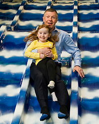 Pictured: Willie Rennie takes the children for a ride down the slide<br /> <br /> Candidates and their children joined Scottish Liberal Democrat leader Willie Rennie today as he unveiled his party's bold, positive and progressive plans to make Scotland the best again as he launched the Scottish Liberal Democrat manifesto.Mr Rennie was joined by some of the Scottish Liberal Democrat candidates standing for election in May as he set out ambitious proposals for a transformational investment in education, a step-change in mental health services, the protection of our environment and guaranteeing Scots' civil liberties.<br /> <br /> Ger Harley | EEm 15 April 2016