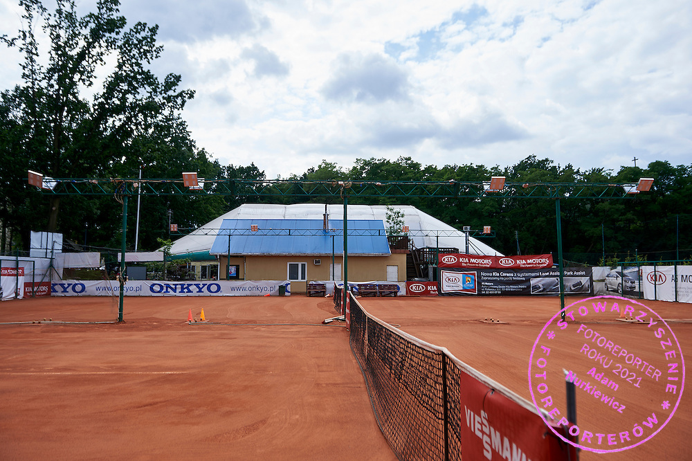 TieBreak Tennis Club on Kasztanowa Aleja street in Warsaw on June 24, 2015.<br /> <br /> Poland, Warsaw, June 24, 2015.<br /> <br /> Picture also available in RAW (NEF) or TIFF format on special request.<br /> <br /> For editorial use only. Any commercial or promotional use requires permission.<br /> Adam Nurkiewicz declares that he has no rights to the image of people at the photographs of his authorship.<br /> Mandatory credit:<br /> Photo by &copy; Adam Nurkiewicz / Mediasport