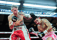 February 21, 2016: Danyk Croteau (L) of Canada lands a punch against Rodrigo Almeida of USA during their middleweight bout as part of the Fight Club 18 gala at the Hilton Lac Leamy in Gatineau, Quebec, Canada. (Photo by Steve Kingsman/Icon Sportswire)