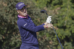 October 22, 2017 - Seogwipo, Jeju Island, South Korea - October 22, 2017-Seogwipo, Jeju Island, South Korea-Justin Thomas of USA tee up on the 3th tee ground during an PGA TOUR CJ CUP NINE BRIDGE DAY 4 at Nine Bridge CC in Jeju Island, South Korea. (Credit Image: © Ryu Seung Il via ZUMA Wire)