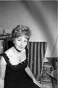 24/09/1963<br /> 09/24/1963<br /> 24 September 1963<br /> Miss Clare Mullen, Actress. at Theatre Royal, pictured at 22 Temple Park Avenue, Blackrock, Dublin.