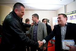 """Mario Kraljevic in Matej Avanzo na okrogli mizi na temo """"Slovenska kosarka - le kos do svetovnega vrha?"""" v organizaciji SportForum Slovenija, 19. oktober 2009, Austria Trend Hotel, Ljubljana, Slovenija. (Photo by Vid Ponikvar / Sportida)"""