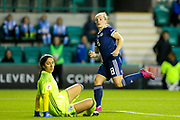 Kim Little (#8) of Scotland watches as the ball goes in the net for Scotland's third goal (3-0) during the Women's Euro Qualifiers match between Scotland Women and Cyprus Women at Easter Road, Edinburgh, Scotland on 30 August 2019.