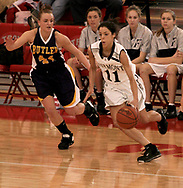 Fairmont's Abbie Dalton (11) with the ball at the Girls Division I sectional basketball finals, held at Troy High School, Saturday afternoon.