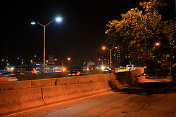 USA NEW YORK JUN10 - LED street lights on FDR Drive in midtown Manhattan, New York...jre/Photo by Jiri Rezac..© Jiri Rezac 2010
