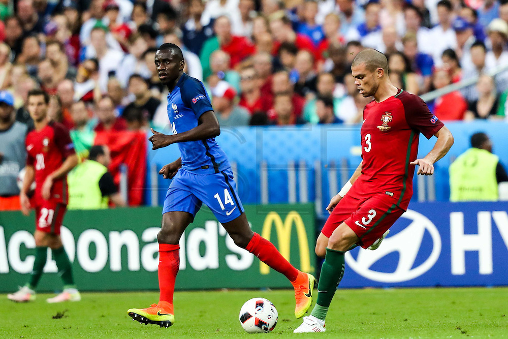 Pepe from Portugal during the match against France. Portugal won the Euro Cup beating in the final home team France at Saint Denis stadium in Paris, after winning on extra-time by 1-0.