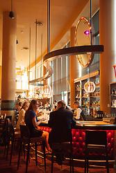 United States, Washington, Bellevue, bar of El Gaucho restaurant