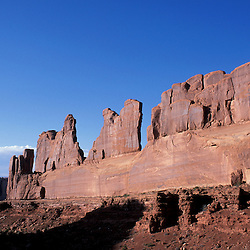 Arches National Park, UT.Entrada sandstone formations in the Utah desert.  Park Avenue Trail.