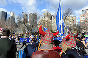 Runners participate in the 12th annual Scotland Run in New York's Central Park to  kick off Scotland Week festivities, Saturday, April 4, 2015.  (Photo by Diane Bondareff/Invision for Scottish Government/AP Images)
