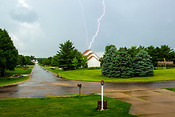 Lightning over WhiteTail Ridge Subdivision near Randolph Illinois.