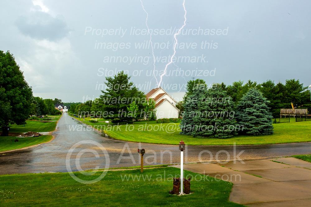 Lightning over WhiteTail Ridge Subdivision near Randolph Illinois.