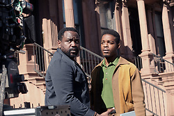 "EXCLUSIVE: Oscar winner Best Picture (Moonlight 2017) Barry Jenkens films ""If Beale Street Could Talk"". 19 Oct 2017 Pictured: Brian Tyree Henry,Stephan James. Photo credit: SteveSands/NewYorkNewswire/MEGA TheMegaAgency.com +1 888 505 6342"