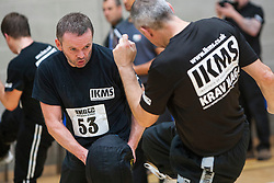 Students kicking. Franklyn Hartkamp takes the Institute Of Krav Maga Scotland grading today at Stirling.<br /> &copy;Michael Schofield.