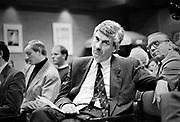 Nederland, Nijmegen, 16-3-1989<br /> Partij bijeenkomst van het CDA waar premier, minister president Ruud Lubbers het woord voert.<br /> Foto: Flip Franssen