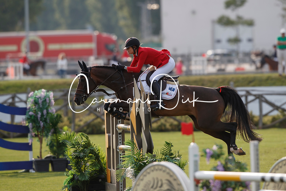 Conter Zoe, BEL, Zeta di Sabuci<br /> Juniors European Championships Jumping <br /> Samorin 2017&copy; Hippo Foto - Dirk Caremans<br /> 11/08/2017