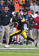 November 20 2010: Iowa Hawkeyes wide receiver Marvin McNutt (7) runs after a catch during the third quarter of the NCAA football game between the Ohio State Buckeyes and the Iowa Hawkeyes at Kinnick Stadium in Iowa City, Iowa on Saturday November 20, 2010. Ohio State defeated Iowa 20-17.