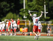Lincoln-Sudbury Regional High School junior Caleb Geitz takes a breather during the Division 1 North Championship game against Billerica Memorial High School at Connolly Memorial Stadium in Woburn, June 13, 2015. The Warriors beat the Indians, 12-8.   (Wicked Local Photo/James Jesson)