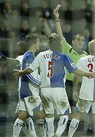 Photo: Aidan Ellis.<br /> Blackburn Rovers v Tottenham Hotspur. The Barclays Premiership. 19/11/2006.<br /> Referee Phil Dowd sends Blackburn's Tugay off