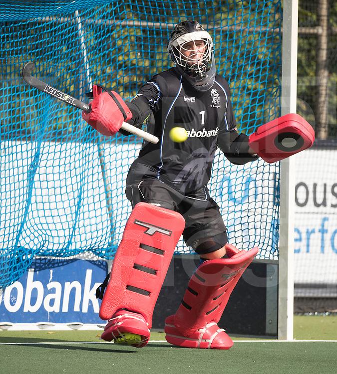 UTRECHT - HOCKEY - keeper David Harte (Kampong)  voor de hoofdklasse hockeywedstrijd heren Kampong-Amsterdam (1-2) . COPYRIGHT KOEN SUYK