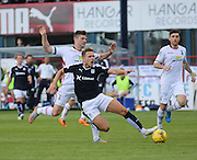 Inverness&rsquo; Iain Vigurs  brings down Dundee's Greg Stewart - Dundee v Inverness Caledonian Thistle in the Ladbrokes Premiership at Dens Park<br /> <br />  - &copy; David Young - www.davidyoungphoto.co.uk - email: davidyoungphoto@gmail.com