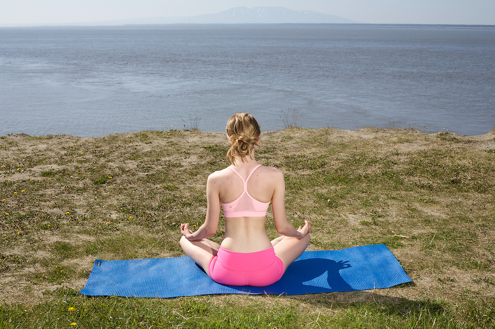 Yoga Girl in Alaska.