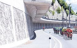 10.07.2019, Fuscher Törl, AUT, Ö-Tour, Österreich Radrundfahrt, 4. Etappe, von Radstadt nach Fuscher Törl (103,5 km), im Bild Peloton bei Taxenbach // Peloton bei Taxenbach during 4th stage from Radstadt to Fuscher Törl (103,5 km) of the 2019 Tour of Austria. Fuscher Törl, Austria on 2019/07/10. EXPA Pictures © 2019, PhotoCredit: EXPA/ JFK