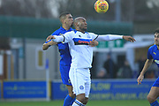 Calvin Andrew controls the ball during the EFL Sky Bet League 1 match between AFC Wimbledon and Rochdale at the Cherry Red Records Stadium, Kingston, England on 8 December 2018.