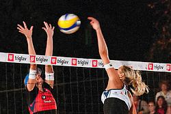 Erika Fabjan vs Andreja Vodeb at Zavarovalnica Triglav Beach Volley Open as tournament for Slovenian national championship on July 30, 2011, in Kranj, Slovenia. (Photo by Matic Klansek Velej / Sportida)