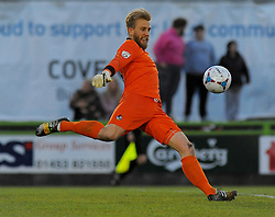 Bristol Rovers' Will Puddy takes a goal kick  - Photo mandatory by-line: Nizaam Jones/JMP - Mobile: 07966 386802 - 29/04/2015 - SPORT - Football - Nailsworth - The New Lawn - Forest Green Rovers v Bristol Rovers - Vanarama Football Conference
