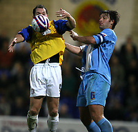 Photo: Paul Greenwood.<br />Chester City v Hereford United. Coca Cola League 2. 12/10/2007.<br />Hereford's Steve Guinan, (L) shields the ball from Chester's Paul Butler