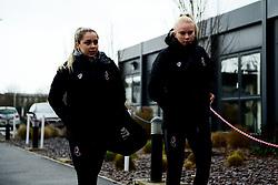 Poppy Pattinson and Jess Woolley arrives at Stoke Gifford Stadium prior to kick off - Mandatory by-line: Ryan Hiscott/JMP - 08/12/2019 - FOOTBALL - Stoke Gifford Stadium - Bristol, England - Bristol City Women v Birmingham City Women - Barclays FA Women's Super League