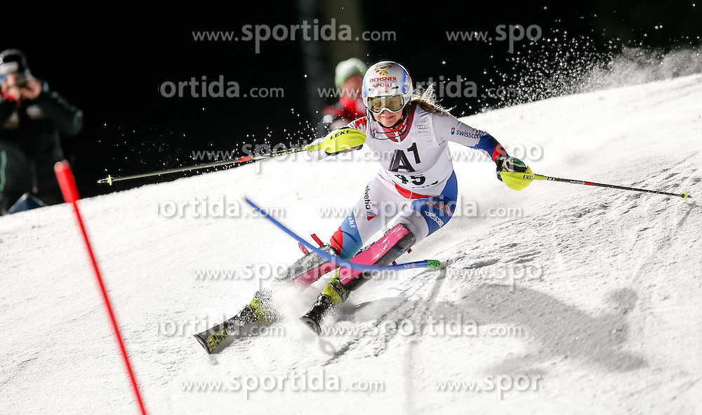 13.01.2015, Hermann Maier Weltcupstrecke, Flachau, AUT, FIS Weltcup Ski Alpin, Flachau, Slalom, Damen, 1. Lauf, im Bild Charlotte Chable (SUI) // Charlotte Chable of Switzerland in action during 1st run of the ladie's Slalom of the FIS Ski Alpine World Cup at the Hermann Maier Weltcupstrecke in Flachau, Austria on 2015/01/13. EXPA Pictures © 2015, PhotoCredit: EXPA/ Johann Groder